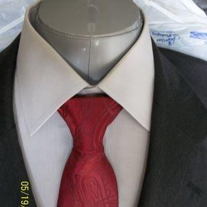 HHR3- Jos A Bank 2Btn Gray Solid Suit